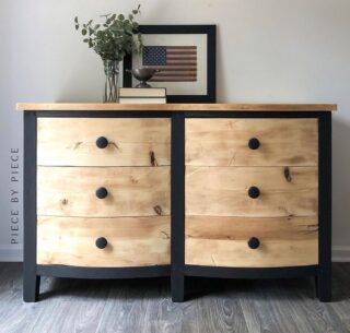 Weekend #zibraweeklypick is by @piecebypiecefinds - Bernadette sanded this dresser down to its natural self then painted the base in @fusionmineralpaint Coal Black. Nice work, Bernaette! #furniturerefinishing #refurbishedpieces #transformation #enjoypainting #fusionmineralpaint #paintedpiece #paintedmakeover #paintedfurniture #antiquedestofdrawers #furniture #homeinterior #decor #paintedrestoration #furnitureartist #piecebypiecefinds #zibraweeklypick